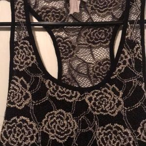 Poetry Tops - Rose lace racer back tank top